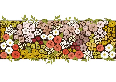 Banner with flowers Stock Vector - 18650405