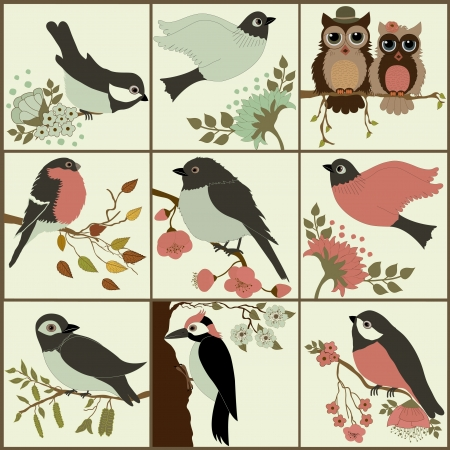 Bird set Vector