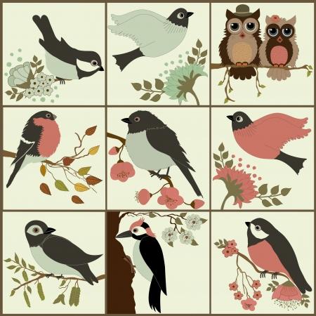 ensemble des oiseaux Illustration