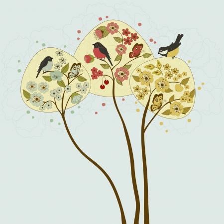 three leaf: Three  trees