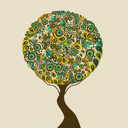 Absztrakt fa Illusztráció