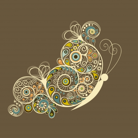 Absztrakt pillangó Illusztráció