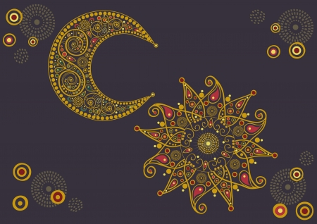 Soleil et lune Illustration