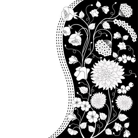 birthday invite: Floral background