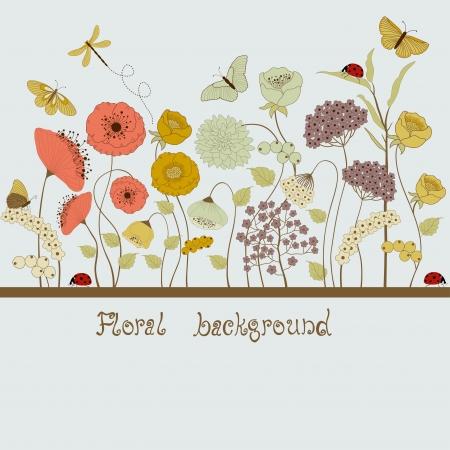 Virágos háttér Illusztráció