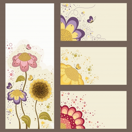 Floral banners design with place for text Vector