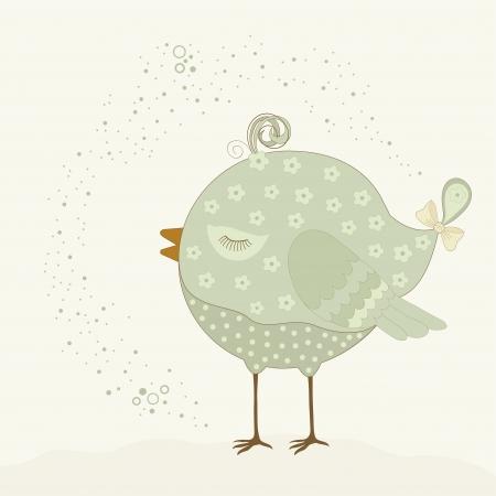 little bird: Pajarito en color beige