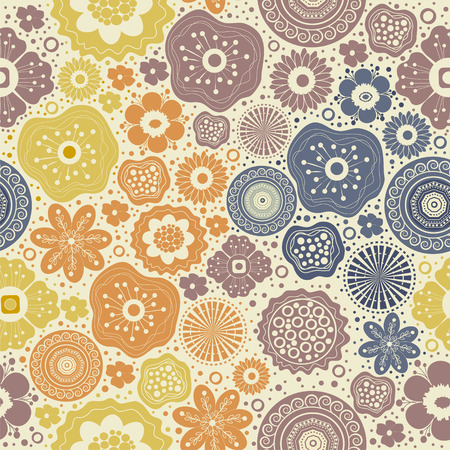 mauve: Seamless abstract colorful pattern on beige background