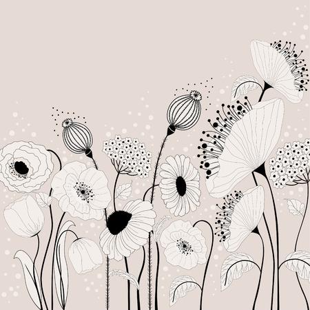 Résumé illustration avec des fleurs de printemps Banque d'images - 26076497