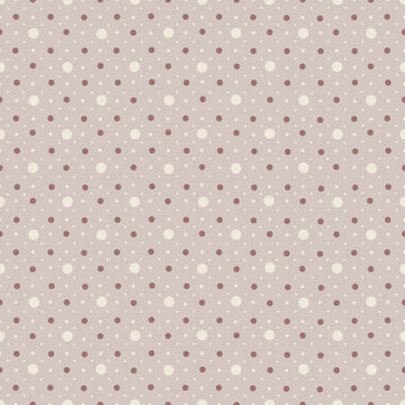 Abstract seamless polka dot pattern on mauve background