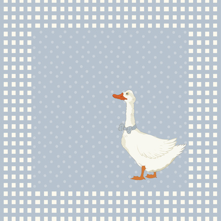 Birthday greeting card with goose Vector
