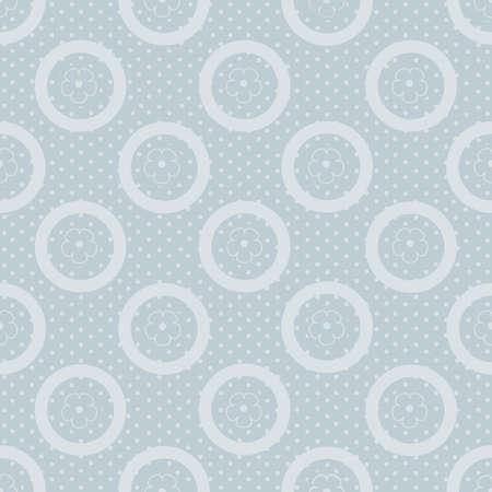 pattern pois: Abstract seamless pattern a pois su sfondo blu