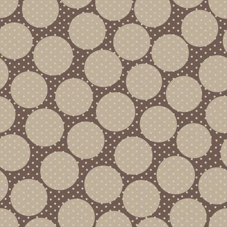 polka dot pattern: Abstract seamless polka dot pattern on brown background