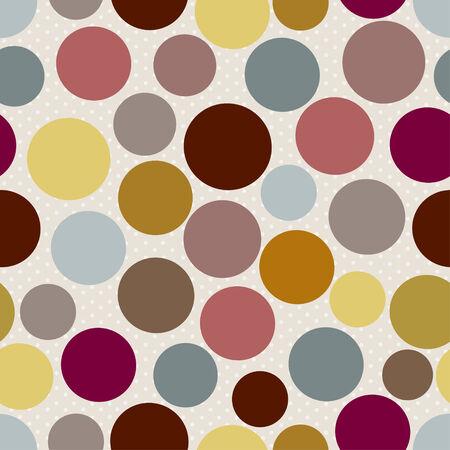 pattern pois: Abstract seamless pattern a pois su fondo beige Vettoriali