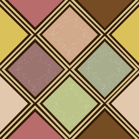 rhombus: Seamless abstract colorful squares pattern  Illustration