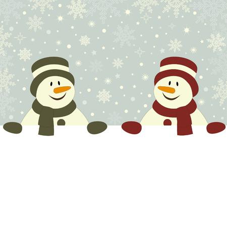 Karácsonyi kártya hóembert és helye a szöveges