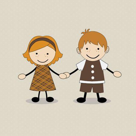 cute kids: Cute happy cartoon kids Illustration