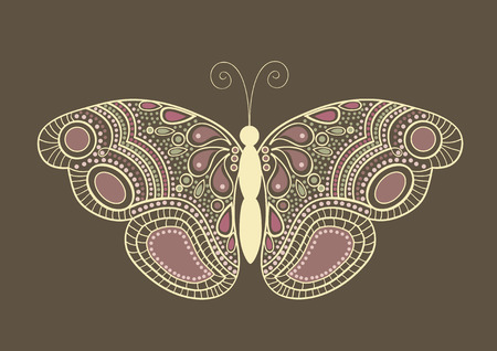 greeting stylized: Greeting card with colorful stylized  butterfly Illustration