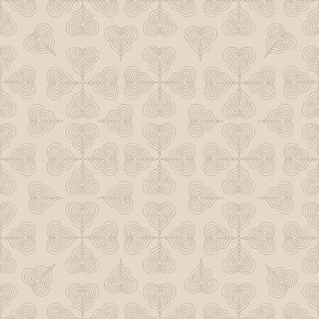 beige background: Seamless abstract pattern on beige background Illustration