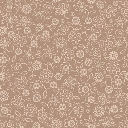 mauve: Seamless floral pattern on mauve background