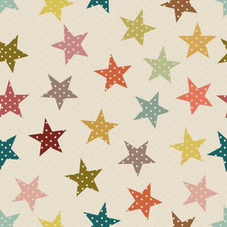 star pattern: Seamless pattern with colorful star