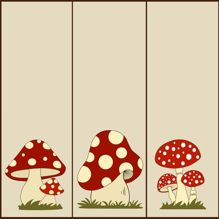 fungus: Set of vertical  banners with fungus