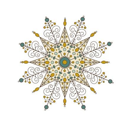Oriental pattern,  Mandala.