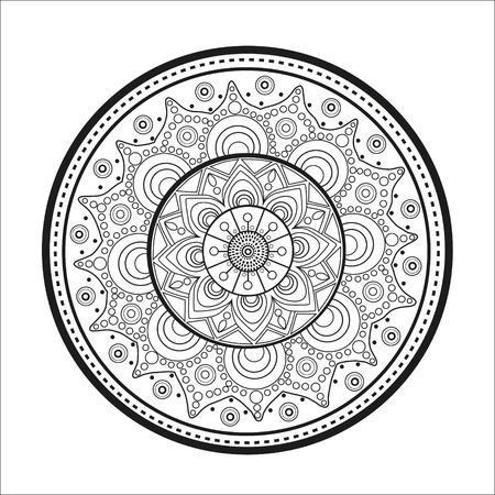 Mandala. Oriental pattern.