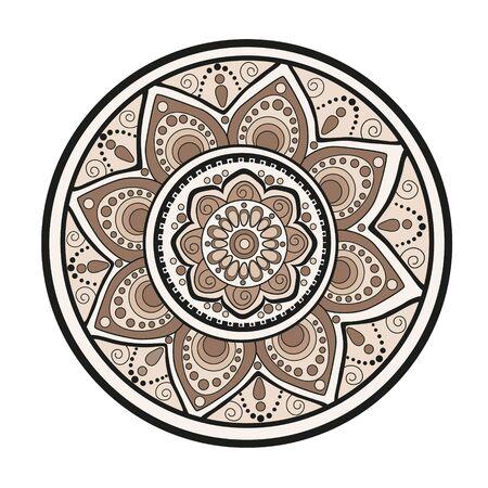 Flower mandala. Oriental pattern Illustration