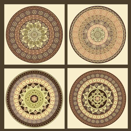 mandalas: Set of ornamental colorful mandalas
