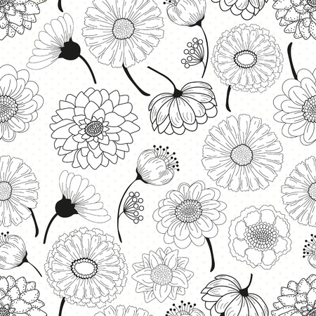 floral decoration: Seamless floral pattern