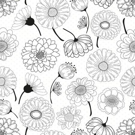 flower leaf: Seamless floral pattern