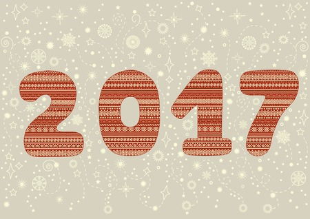 new year greeting: Happy new year! Greeting card.