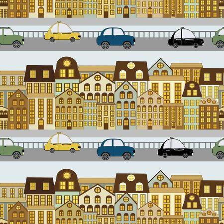 ot: Seamless pattern with elements ot the city streets