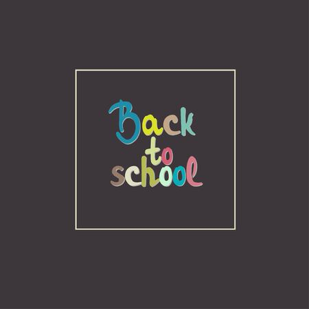 Colorful text back to school Illustration