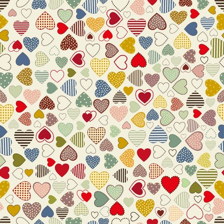 Seamless pattern with colorful hearts Иллюстрация