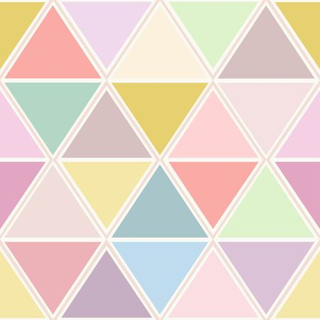 Geometric vector seamless pattern in fashion pastel colors Stock Illustratie