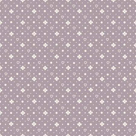 Abstract seamless pattern on mauve background Illustration