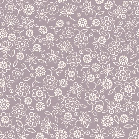 Seamless abstract floral pattern on mauve background