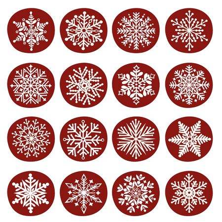 Greeting card with a set of  snowflakes Reklamní fotografie - 132051053