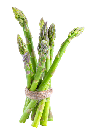 Isolated green asparagus on white background