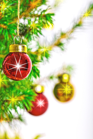 Christmas decoration on abstract background,vintage filter,soft focus.
