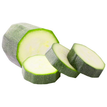 Isolated zucchini. Slices zucchini isolated on white background with clipping path Zdjęcie Seryjne
