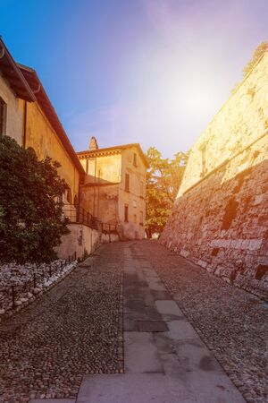 Way of entry to the castle of Brescia, Italy.