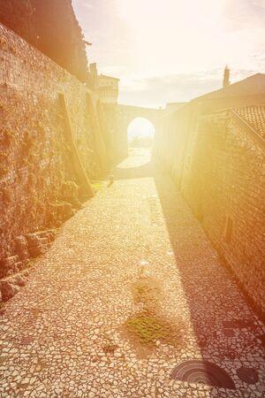 The walls inside the castle of Brescia ( Brixia).