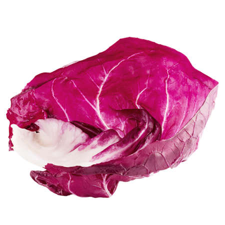 Isolated red salad. Red trevisane salad, radicchio,  isolated on white background with clipping path as package element.