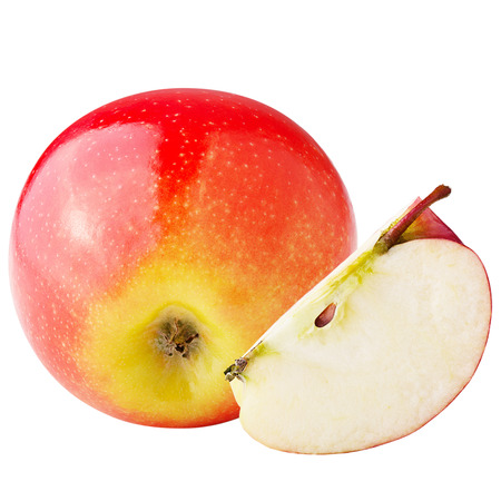 Isolated apples.  Sweet apple isolated on white backgroundd with clipping path as package design element.