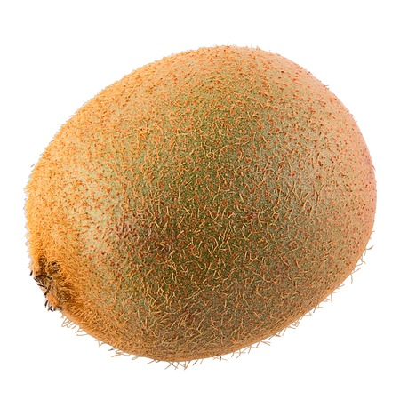 Isolated kiwi fruit on white background with clipping path as package design element and advertising. Floating fruits in the air.