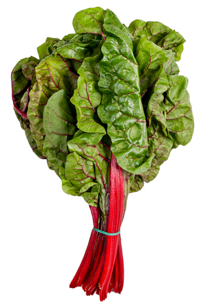 Beet tops are rich with antioxidants, high minerals, vitamins and low in fat and cholesterol. Health benefiting concept. Top view with copy space. Selective focus. 写真素材
