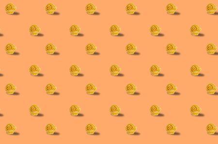 Trendy pattern done with raw pasta background Reklamní fotografie